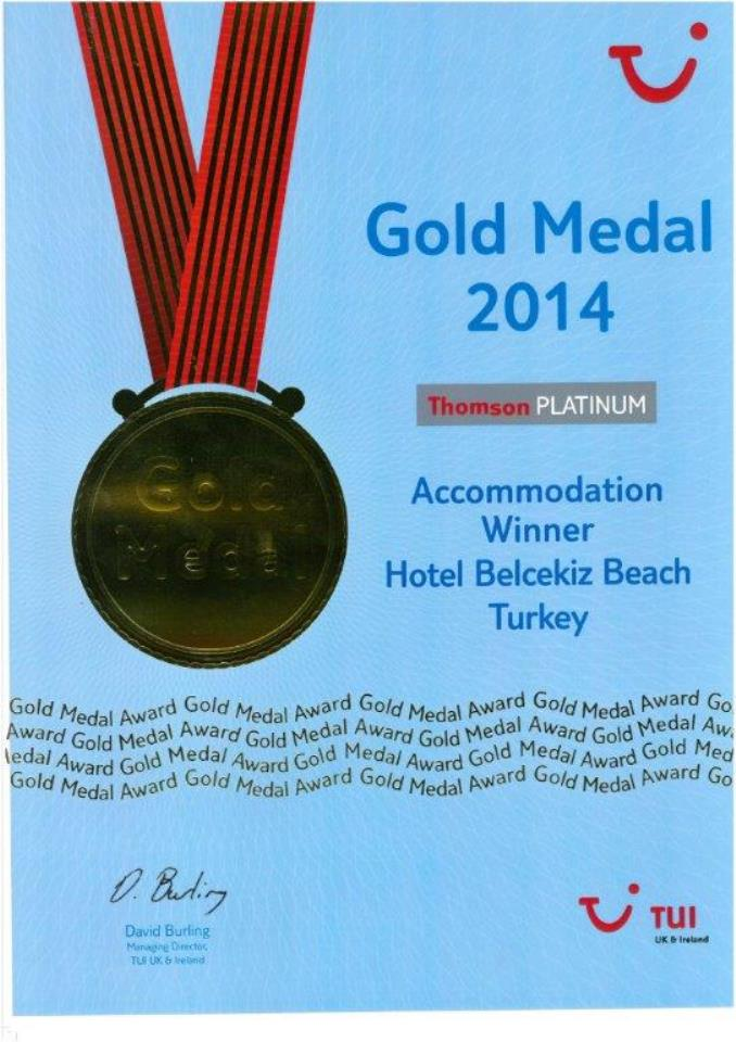 tui 2014 gold medal