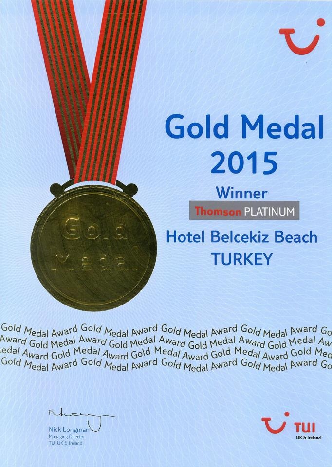 tui 2015 gold medal